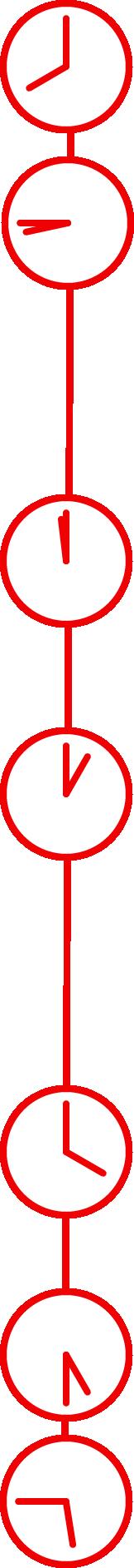 時刻を示す時計